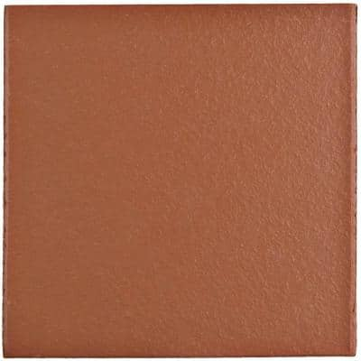 Klinker Red 5-7/8 in. x 5-7/8 in. Ceramic Floor and Wall Quarry Tile (6 sq. ft. / case)