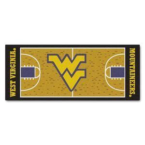 West Virginia University 3 ft. x 6 ft. Basketball Court Rug Runner Rug