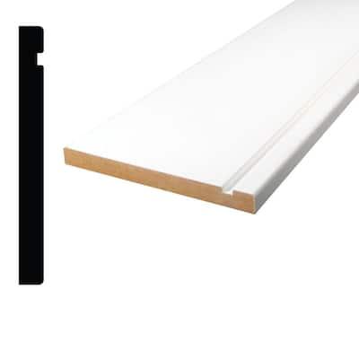 1/2 in x 5 in. x 84 in. Primed MDF Baseboard Moulding