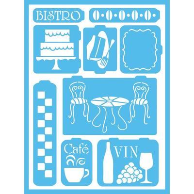 Bistro Self-Adhesive Stencil