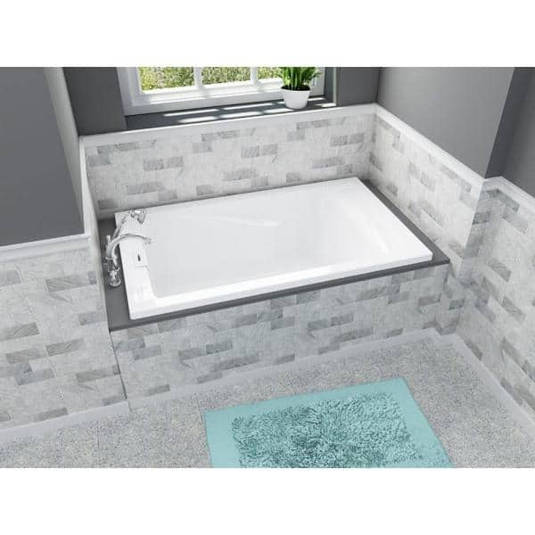 American Standard Everclean 5 Ft X 36 In Soaking Tub With Reversible Drain In White 2771 L002 020 The Home Depot