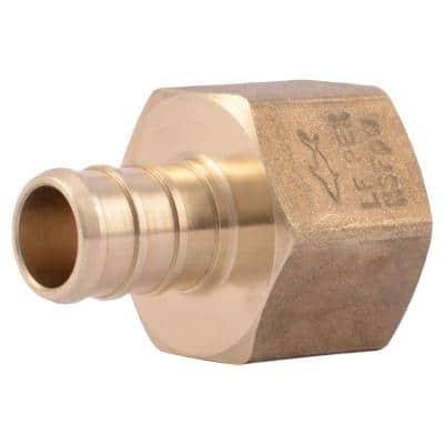 1/2 in. PEX Barb x FIP Brass Adapter Fitting