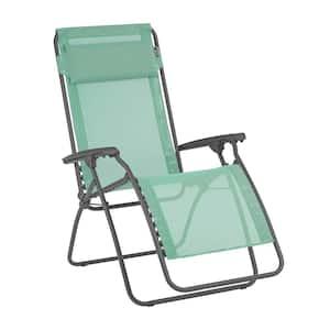 R-Clip in Chlorophyle Steel Frame Folding Zero-Gravity Reclining Lawn Chair