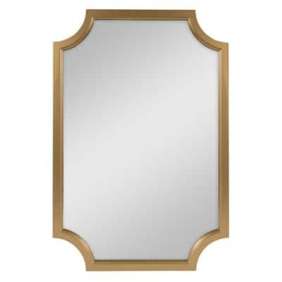 Medium Irregular Gold Contemporary Mirror (36 in. H x 24 in. W)