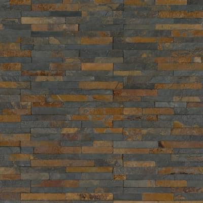 Three Rivers Gold 6 in. x 6 in. Textured Wall Slate Tile (2 sq. ft./Case )