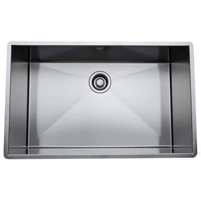 Undermount Stainless Steel 30 in. Single Bowl Kitchen Sink in Brushed Stainless Steel