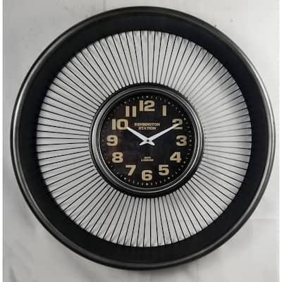 Vintage Rustic Metal Jet Engine Wall Clock