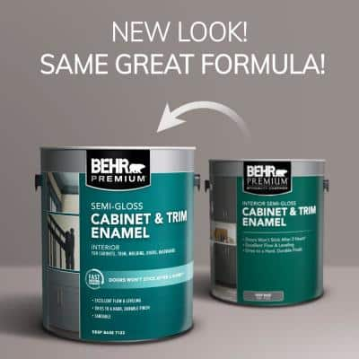 1 gal. #N500-6 Graphic Charcoal Semi-Gloss Enamel Interior Cabinet and Trim Paint