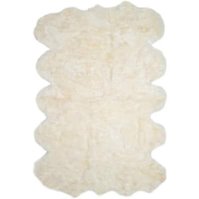Sheep Skin White 6 ft. x 9 ft. Area Rug