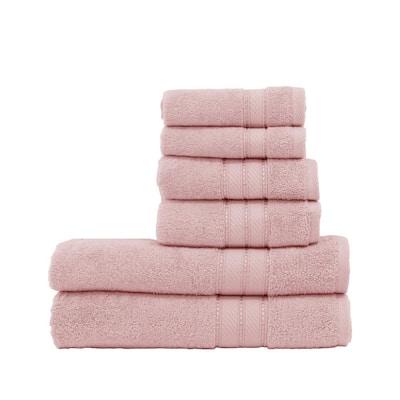 Spunloft 6-Piece Blush Solid Cotton Towel Set