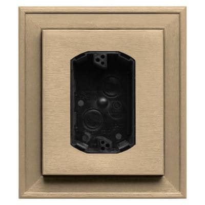 7 in. x 8 in. #045 Sandstone Maple Electrical Mounting Block