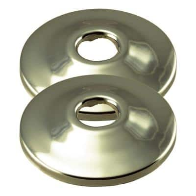 2-3/8 in. Dia. 1/2 in. Nominal Copper Shallow Grip Flange in Polished Nickel (2-Pack)