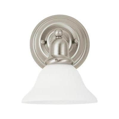 Sussex 1-Light Brushed Nickel Bath Light with LED Bulbs