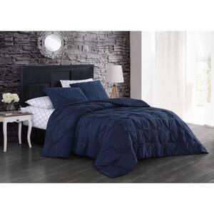 Flynn 7-Piece Navy King Comforter Set