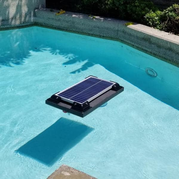 Natural Current Savior 5 000 Gal Solar Powered Pool Pump With Floating Cartridge Filter System For In Ground And Above Ground Pools Ncsf5k The Home Depot