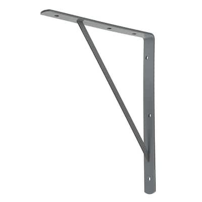 10 in. x 8 in. Gray Medium Duty Shelf Bracket