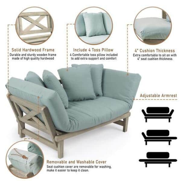 Cambridge Casual Tulle White Wash Wood, Sofa Cushion Support Home Depot