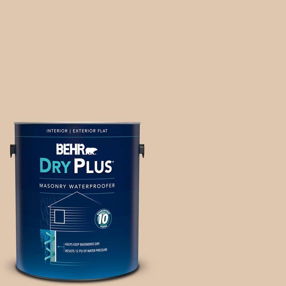 Behr 1 Gal N260 2 Almond Latte Flat Interior Exterior Dry Plus Masonry Waterproofer 87501 The Home Depot