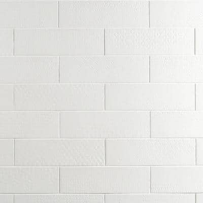 Harper White 4 in. x 12 in. Matte Porcelain Subway Floor and Wall Tile (30-Pieces / 8.72 sq. ft. / Box)