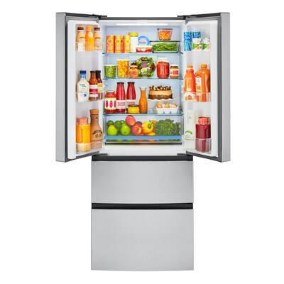 15.0 cu. ft. French Door Refrigerator in Stainless Steel, Fingerprint Resistant