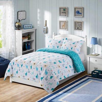 Llama 2-Piece Multi-Color Twin Comforter Set