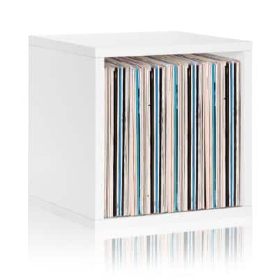 15 in. H x 15 in. W x 13 in. D White Recycled Materials 1-Cube Storage Organizer