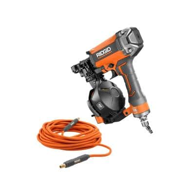 15-Degree 1-3/4 in. Coil Roofing Nailer with 1/4 in. 50 ft. Lay Flat Air Hose