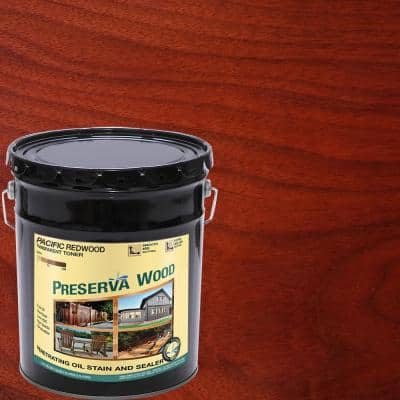5 gal. 100 VOC Pacific Redwood Oil-Based Exterior Penetrating Stain and Sealer