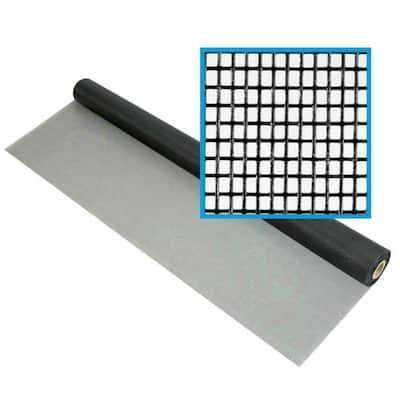 48 in. x 100 ft. Fiberglass Window Screen Mesh, Porch and Window Screen Replacement, Window Screen Roll (Black)