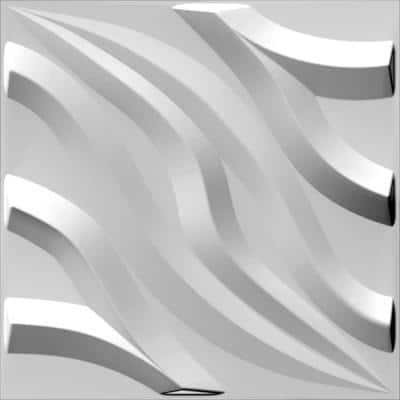 Falkirk Fifer 20 in. x 20 in. Paintable Off White Flamestitch Flames Fiber Decorative Wall Paneling (10-Pack)