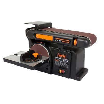 4.3 Amp Corded 4 in. x 36 in. Belt and 6 in. Disc Sander with Cast Iron Base
