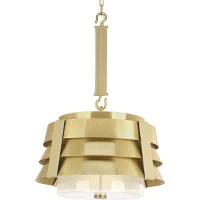Jeffrey Alan Marks Sandbar 3-Light Brushed Brass Pendant