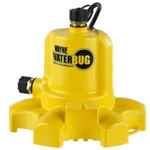 0.16 hp. WaterBUG Submersible Utility Pump with Multi-Flo Technology