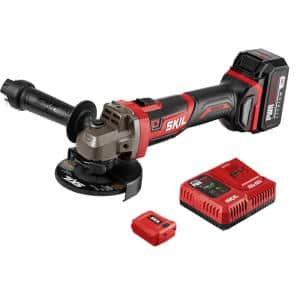 PWRCore Brushless 20V Cordless 4-1/2 in. Angle Grinder Kit w/ 5.0Ah Lithium-ion Battery, PWRAsst USB Adapter and Charger