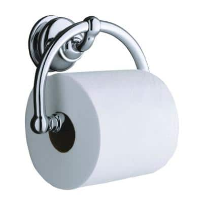 Fairfax Wall-Mount Single Post Toilet Paper Holder in Polished Chrome