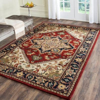 Heritage Red 9 ft. x 12 ft. Border Area Rug
