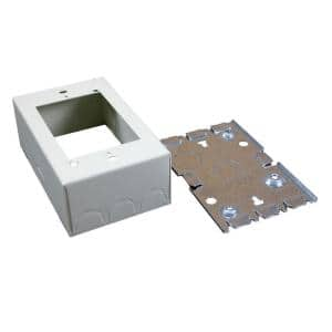 Wiremold 500 and 700 Series 1-3/8 in. Shallow Switch and Receptacle Box