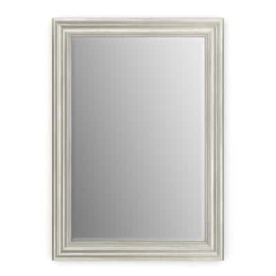 33 in. W x 47 in. H (L1) Framed Rectangular Deluxe Glass Bathroom Vanity Mirror in Vintage Nickel