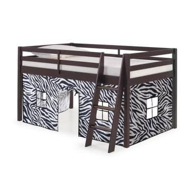 Roxy Espresso with Zebra Bottom Tent Twin Junior Loft