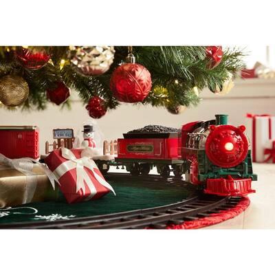 Classic Christmas Train Set Traditional Under Tree Christmas Decoration
