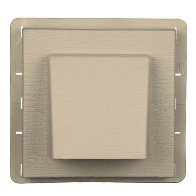 8 in. x 7.875 in. Water Management 4 in. Hooded Vent in #049 Almond