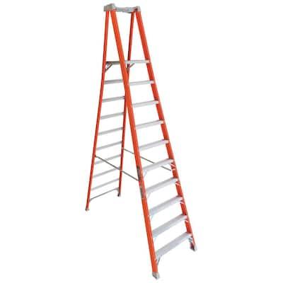 10 ft. Fiberglass Pinnacle Platform Ladder with 300 lbs. Load Capacity Type IA Duty Rating