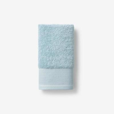 Organic Spa Blue Solid Cotton Hand Towel