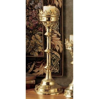 Chartres Cathedral Polyresin Gothic Grand Scale Candlestick Candle Holder