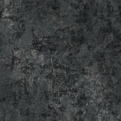 Distressed Gold Leaf Gunmetal Peel and Stick Wallpaper (Covers 56 sq. ft.)
