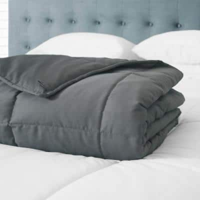 300 Thread Count Cotton Grey Weighted Blanket