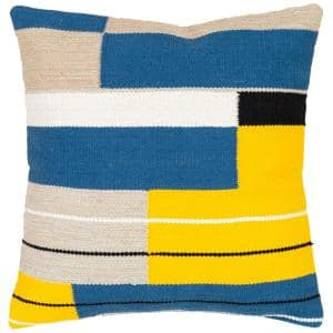 Daniela Yellow Graphic Down 20 in. x 20 in. Throw Pillow