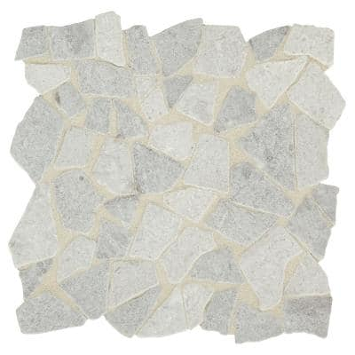 Premier Accents Shadow Gray 12 in. x 12 in. x 8 mm Tumbled Pebble Mosaic Floor and Wall Tile (0.91 sq. ft./Each)