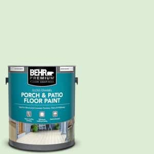 1 gal. #M390-2 Misty Meadow Gloss Enamel Interior/Exterior Porch and Patio Floor Paint