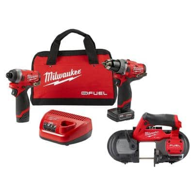M12 FUEL 12-Volt Lithium-Ion Brushless Cordless Combo Kit (2-Tool) with Sub Compact Band Saw